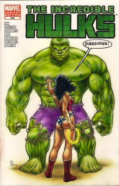 Hulk and Wonderwoman sketch cover commission by huy-truong@deviantART