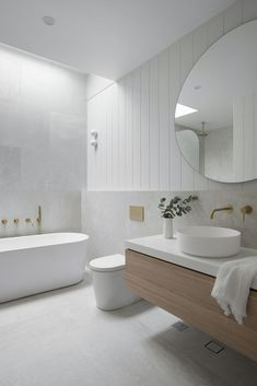 Laundry In Bathroom, Master Bathroom, Stone Bathroom, Light Bathroom, Bathroom Wall Lights, Bathroom With Wood Floor, Bathroom Ideas White, Light Grey Bathrooms, Black Vanity Bathroom