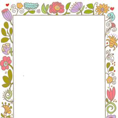 Borders Frames Vintage Style Decorative Cute Invite Wedding Bohemian Flower Art Colorful Clip Stationary Note Paper Decorated Pretty         April 11, 2014 at 08:20PM