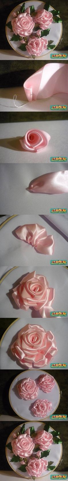 DIY Embroidery Ribbons Rose