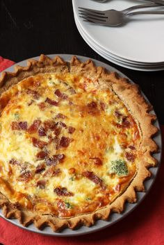 Bacon Quiche with Broccoli & Cheddar | Good Cheap Eats