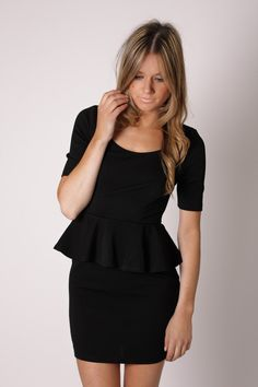 So many pretty LBDs and other  fabulous dresses on this site    chelsea cap sleeve tunic dress- black
