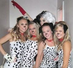 Make your own with dalmatian print minky coolest-homemade-cruella-deville-and-dalmatians-halloween-costume-ideas-20