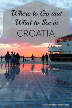 Places to visit: Dubrovnik, Split, Plitvice Lakes National Park & Krka National Park