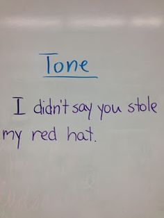 Teach Tone with One Sentence - great way to introduce tone and link it to inference