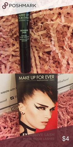 Makeup forever excessive lash mascara Selling brand new trial size of Makeup forever excessive lash mascara in black. Makeup Forever Makeup Mascara