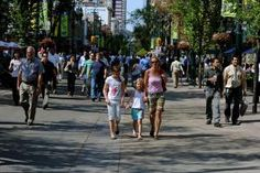 The surprising absence of pedestrian streets in North America-- and what Calgary can show us - I am perplexed by the almost complete lack of pedestrian streets in North America. Why is it that car-free commons—designed for pleasurable strolling, shopping and hanging out—which have become as typical as stoplights or McDonalds in European city centers, are almost non-existent here?