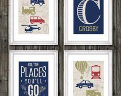 Car prints for boys bedroom nursery or by customedgestudio on Etsy