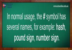 TESOL ESL [ English Facts ] # symbol