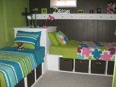 im making a room in my basement heres a good idea of course with a change colors and only one bed