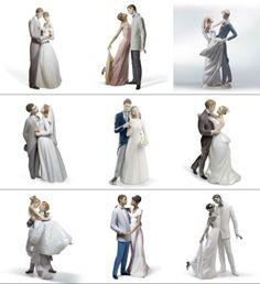 fotos divulgação, vários casais de noivinhos de porcelana para serem usados como topo de bolo em casamento, fabricação da empresa espanhola ...