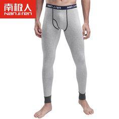 2016 Hombres de Algodón Largo Johns Stretch Segunda Pele Termica Homem Pantalones de Línea de Ropa Interior Térmica Caliente Pantalones Marea de Tocar Fondo Caliente de La Venta