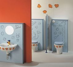 playful kids bathroom decoration ideas | kid bathrooms, school