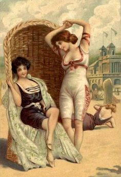Divided Back Postcard Bathing Beauties Swimsuits & Pinup Pin Up Vintage, Vintage Cards, Vintage Ladies, Victorian Ladies, Vintage Artwork, Vintage Prints, Vintage Pictures, Vintage Images, Vintage Swimsuits