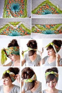 Scarf head band