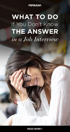 When You Donu0027t Know How To Answer A Question During An Interview, The