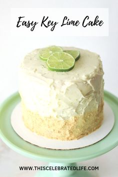 I love key lime pie, I think it& one of the best summer dessert recipes ever! This easy key lime cake recipe has it all: graham cracker crust, ho. Homemade Cake Recipes, Best Cake Recipes, Cupcake Recipes, Sweet Recipes, Gourmet Cupcakes, Key Lime Desserts, Fun Desserts, Delicious Desserts, Health Desserts