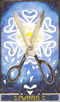 Two of Swords-Wheel of Change Tarot