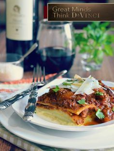 Lasagna with Chianti in the sauce? Yes, please. For the perfect pairing, great minds think DaVinci.   Recipe from 2013 DaVinci Storyteller Karista of @karistaskitchen