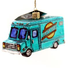 Old World Christmas Food Truck Glass Ornament Height: 2.25 Inches Material: Glass Type: Glass Ornament Brand: Old World Christmas Item Number: Old World Christmas 46060 Catalog ID: 28394 New With Tag.