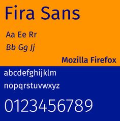 Fira Sans by Erik Spiekermann for Firefox OS