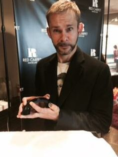 Actor #DominicMonaghan from #Lost dropped by RCM at #KariFeinsteinPR's Style Lounge and got his very own #MANicure!