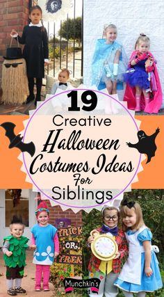 Check out some of the coolest Halloween costumes ideas for siblings. Brother Sister Costumes, Brother Sister Halloween, Halloween Costumes For Sisters, Matching Halloween Costumes, Diy Halloween Costumes For Kids, Creative Halloween Costumes, Costumes For Siblings, Halloween College, Halloween Office