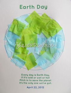 Tissue Paper Earth Day Craft and Printable Template