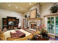 Love this cozy #fireplace. www.cctulsa.com