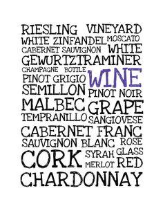 Items similar to Wine Poster - Print - Digital Illustration Poster - Kitchen Art - Restaurant Art - Wine Lover - Kitchen Print - Home Decor - Art on Etsy Wine Gift Boxes, Wine Gifts, Sauvignon Blanc, Cabernet Sauvignon, White Zinfandel, Wine Poster, Art Restaurant, Wine Sale, Wine Brands