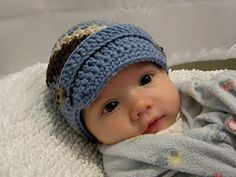 Cute brimmed baby hat ...