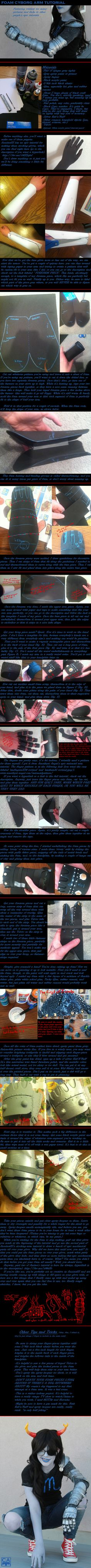 Foam Cyborg Arm Tutorial by crownless-Again.deviantart.com on @deviantART