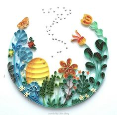 © Meloney Celliers - Quilling about flowers and animals (Searched by Châu Khang)