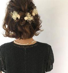 Bridesmaid Hair, Prom Hair, Bride Hairstyles, Cute Hairstyles, Short Hair Cuts, Short Hair Styles, Short Wedding Hair, Floral Hair, Hair Inspo