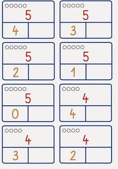 Zahlzerlegung nur bis 6 – Rebel Without Applause Math Worksheets, Math Activities, Kindergarten Math, Preschool, Montessori Math, Math For Kids, Numeracy, Ms Gs, Mathematics