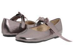 Pazitos Classic Ballerina MJ PU (Infant/Toddler) Pewter - Zappos.com Free Shipping BOTH Ways