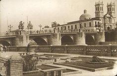 Puente de Piedra e Iglesia de los Desamparados, 1920