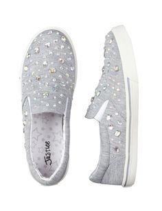 Embellished Jersey Slip-on Shoes   Justice