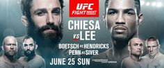 FOLLOW AND SHARE  UFC BRINGS RISING STARS MICHAEL CHIESA AND KEVIN LEE TO OKLAHOMA CITY, WHILE JOHNY HENDRICKS RETURNS HOME TO FACE TIM BOETSCH Plus: BJ PENN vs DENNIS SIVER (#9) ILIR LATIFI vs (#10) ANTONIO ROGERIO NOGUEIRA   TICKETS FOR UFC FIGHT NIGHT®: CHIESA vs LEE AT CHESAPEAKE ENERGY ARENA ON SALE MAY 5 …