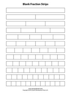 Get printable fraction strips free for your children to learn facts of fractions. Most of the children face difficulty in learning the concept of fractions 3rd Grade Fractions, Teaching Fractions, Fractions Worksheets, Fifth Grade Math, Math Fractions, Multiplication, Teaching Math, Comparing Fractions, Equivalent Fractions