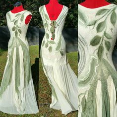 Check out this item in my Etsy shop https://www.etsy.com/listing/467425587/woodland-fairy-bridal-dress-nuno-felted