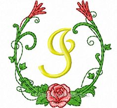 Embroidery Designs, Cute Embroidery Designs letter i