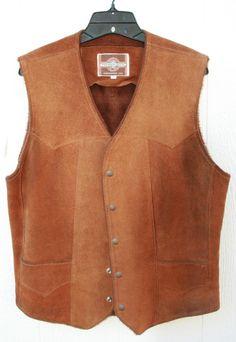 vtg Western Wear Men's Leather Vest Pioneer Wear Western Wear Cowboy Rodeo Vest Pioneer Clothing, Western Vest, Leather Vest, Mens Fashion, Fashion Outfits, Rodeo, Westerns, Men's Vests, Style Me