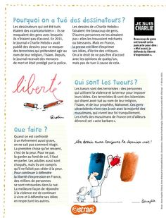 Astrapi L'attentat au Charlie hebdo Satire, Charlie Hebdo, Teaching French, Journal, Good Things, Extension, Forget, Articles, French Class