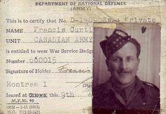 Francis Curti,Canadian Army