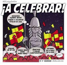 """""""A celebrar"""" #ElCartonDelDia #Zheko_grafico #ElCartonDelDia #DisfrutenloConLeche #MonerosFutboleros"""