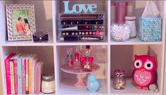 faça você mesma organizador de perfume para sua estante ou penteadeira