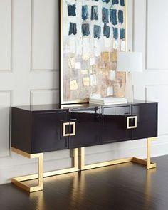 LUXURY FURNTIURE | Rosewood Buffet at Neiman Marcus.  | bocadolobo.com/ #modernsideboard #sideboardideas