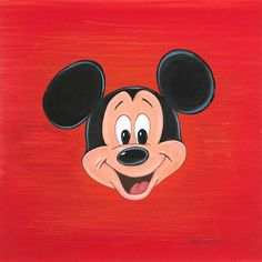"""Fa-Mouse Face"" By Bret Iwan - Original Acrylic on Board, 11x11.  #Disney #MickeyMouse #DisneyFineArt #BretIwan"