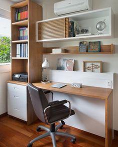 30 Stunning Small Home Office Design Ideas that Inspire - Like Design Ideas Home Design, Home Office Design, Interior Design, Design Ideas, Design Offices, Wood Storage, Built In Storage, Storage Ideas, Storage Design